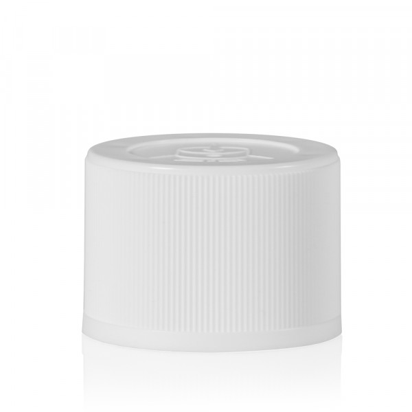 Childproof screwcap PP white 24.410