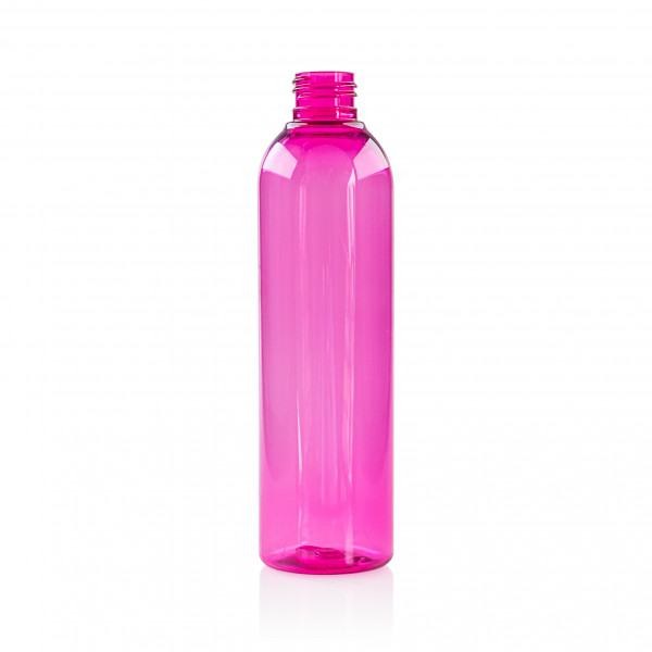 250 ml bottle Basic Round PET Pink 24.410