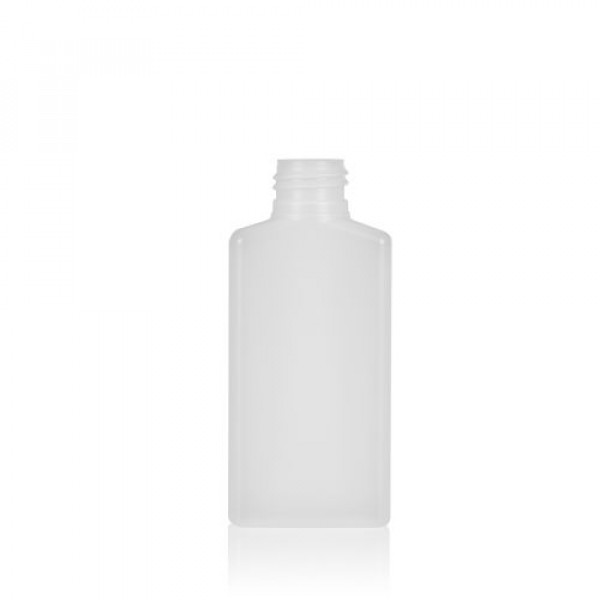 100 ml bottle Mailbox Square HDPE natural 24.410
