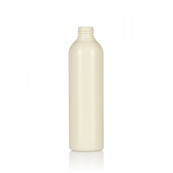 250 ml bottle Basic Round recycled HDPE Ivory 24.410