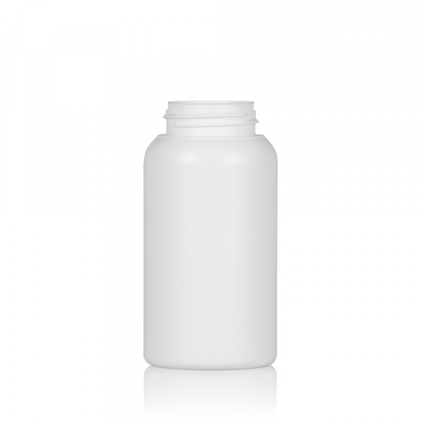 250 ml bottle Compact round HDPE white 567