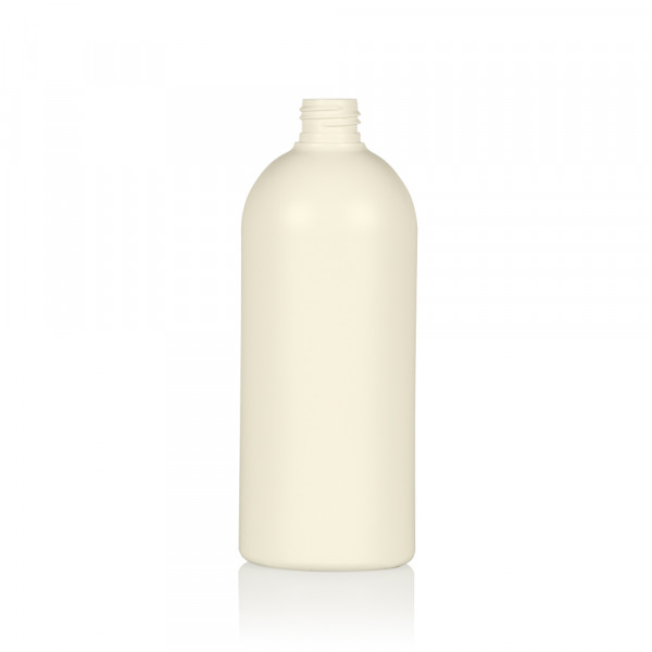 500 ml bottle Basic Round recycled HDPE Ivory 24.410