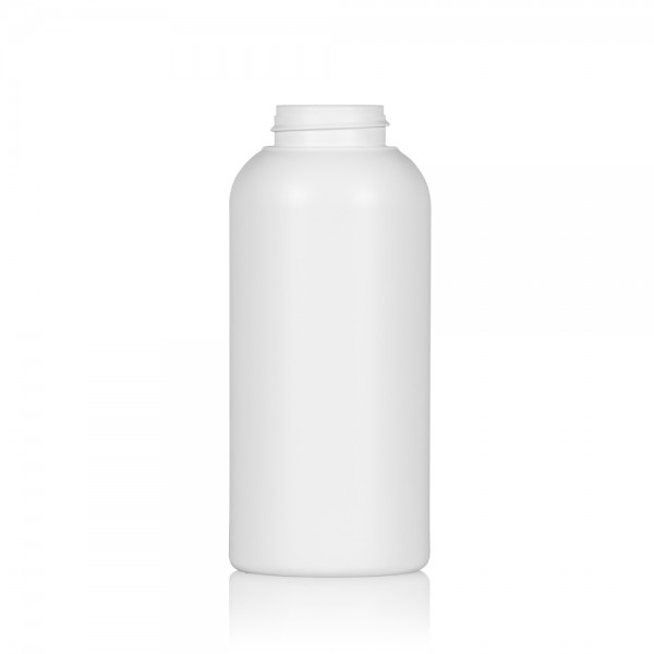 500 ml bottle Compact round HDPE white 567