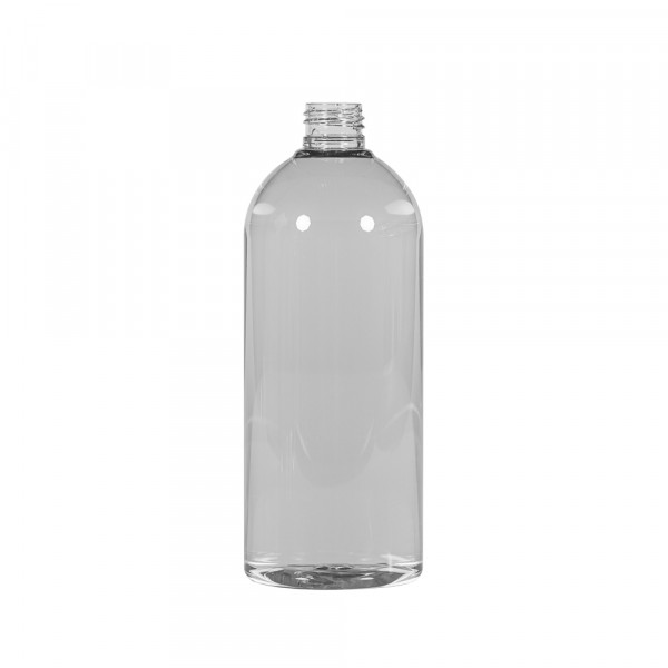 500 ml bottle Basic Round Recycled PET transparent 24.410