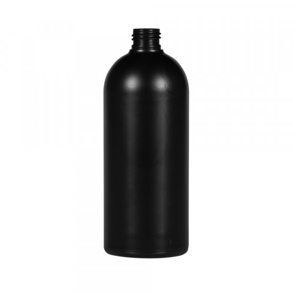 500 ml bottle Basic Round HDPE black 24.410