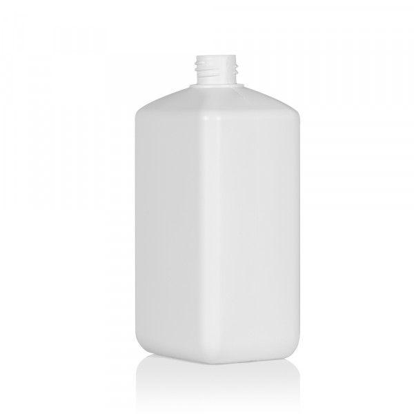 1000 ml bottle Standard Square HDPE white 28.410