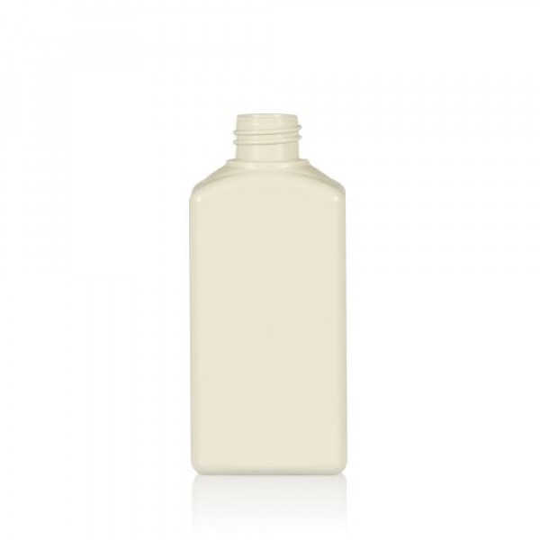 250 ml bottle Standard Square recycled HDPE ivory 28.410