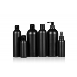 Basic Round PE bottles black
