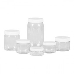 Clear Cylinder jars PET