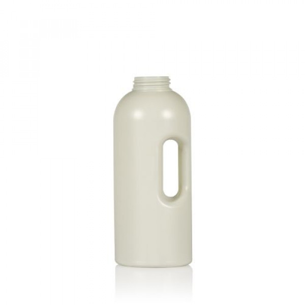 1000 ml Dosingbottle Compact Round recycled HDPE ivory One2dose D43