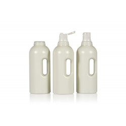 100% Recycled Compact Round R-HDPE bottles