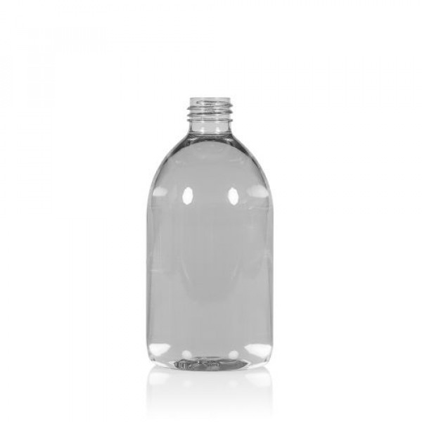 500 ml bottle Soap recycled PET transparent 28.410