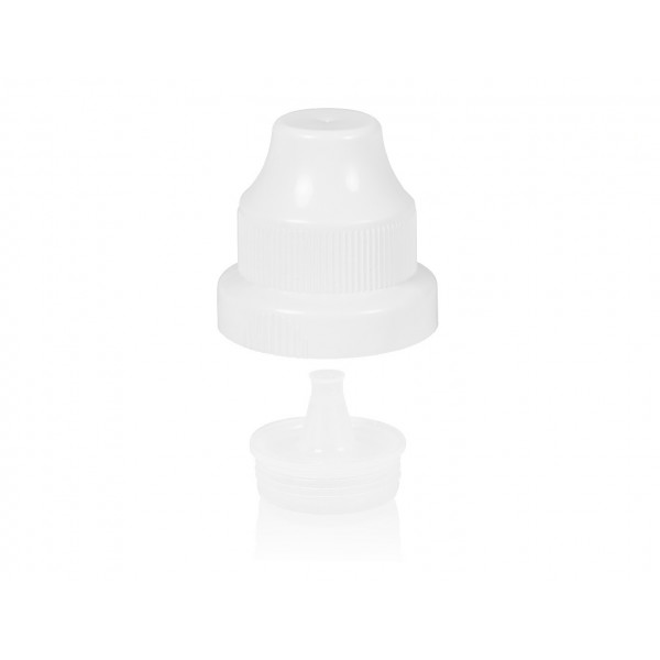 childproof cap + insert PP white 603