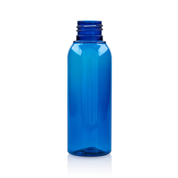 100 ml bottle Basic Round PET blauw 24.410