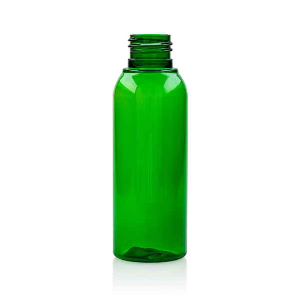 100 ml bottle Basic Round PET green 24.410