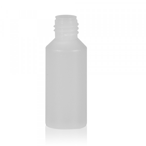 10 ml bottle Mini Round HDPE-LDPE natural