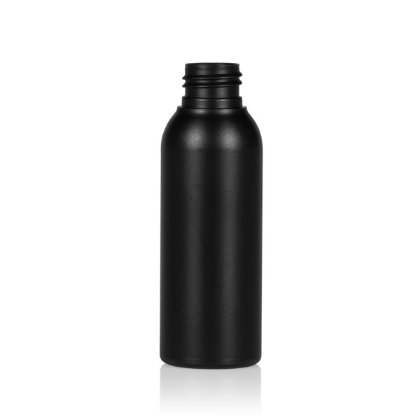 100 ml bottle Basic Round HDPE black 24.410
