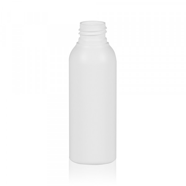 100 ml bottle Basic Round HDPE white 24.410