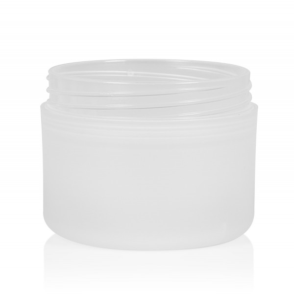 100 ml jar Frosted Soft PP natural double-walled