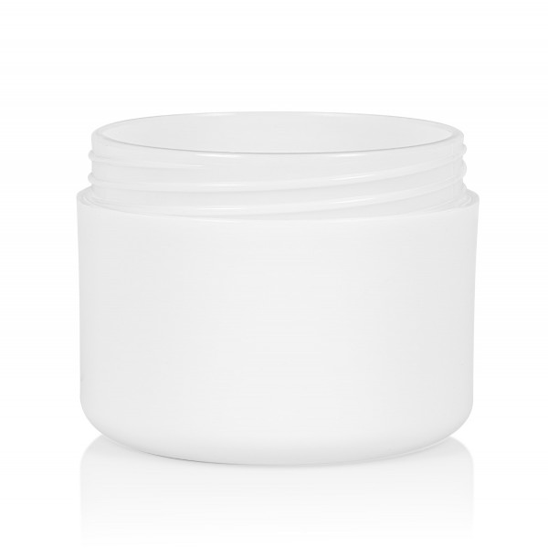 100 ml jar Frosted Soft PP white double-walled