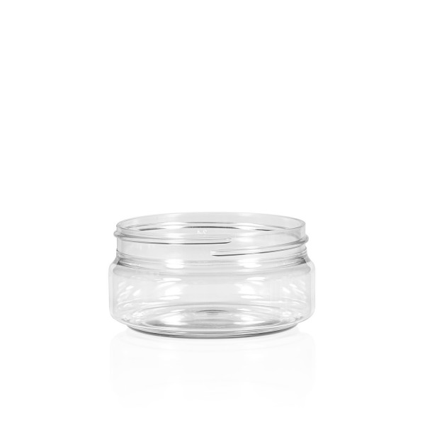 100 ml jar Clear Cylinder PET transparent