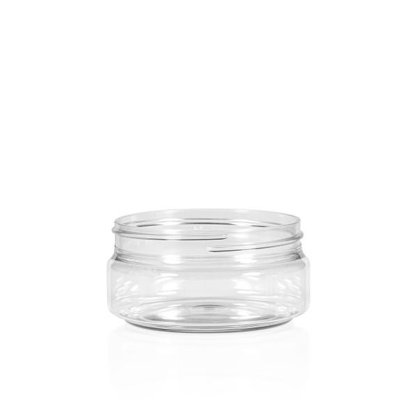 100 ml jar Clear Cylinder PET transparent