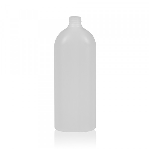1000 ml bottle Basic Oval HDPE white 28.410