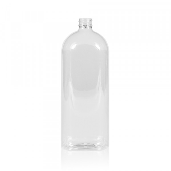 1000 ml bottle Basic Oval PET transparent 28.410