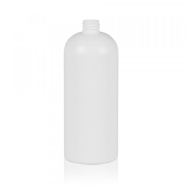 1000 ml bottle Basic Round HDPE white 28.410