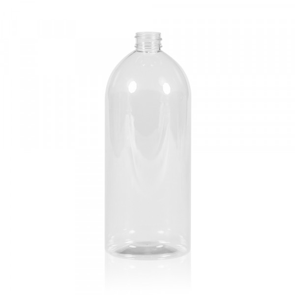 1000 ml bottle Basic Rund PET transparent 28.410