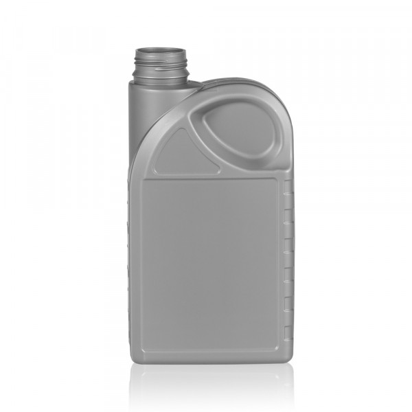 1000 ml bottle Oil HDPE silver
