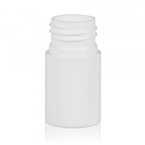 15 ml bottle Basic Round HDPE white 24.410