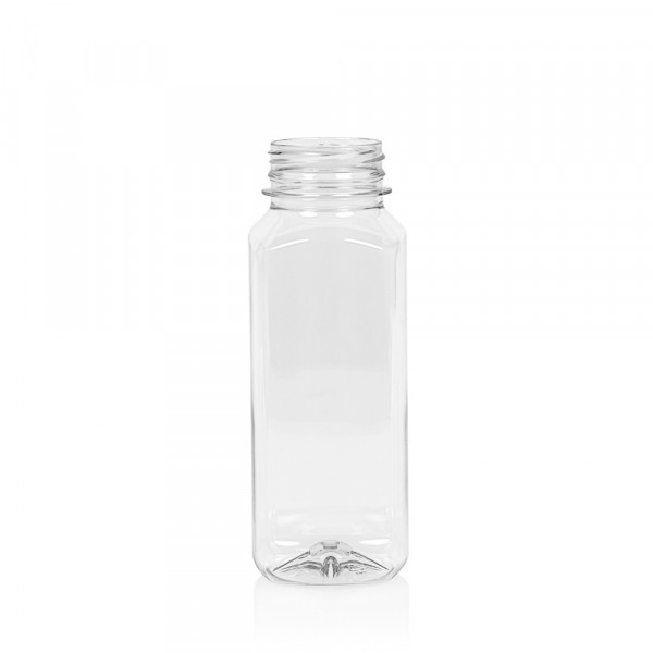 250 ml juice bottle Juice Square PET transparent
