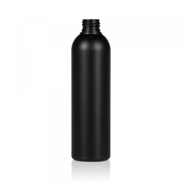 250 ml bottle Basic Round HDPE black 24.410