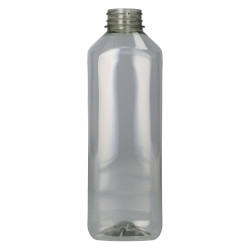 1000 ml juice bottle juice square recycled r-pet clear