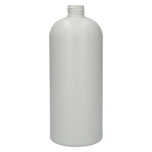 1000 ml bottle Basic Round recycled HDPE Ivory 28.410
