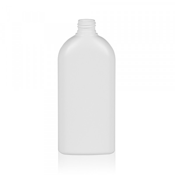 300 ml bottle Basic Oval HDPE white 24.410
