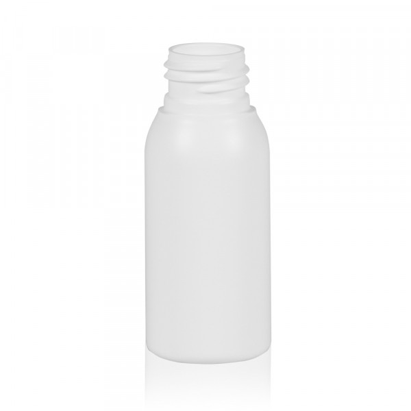 50 ml bottle Basic Round HDPE white 24.410