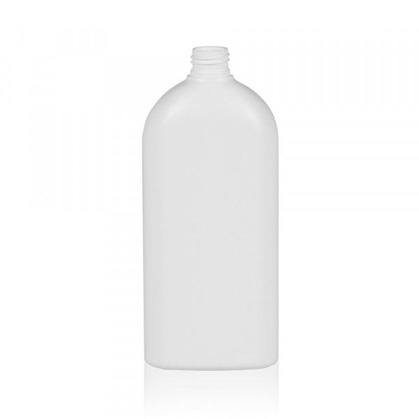 500 ml bottle Basic Oval HDPE white 24.410