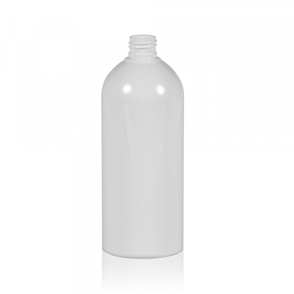 500 ml bottle Basic Round PET white 24.410