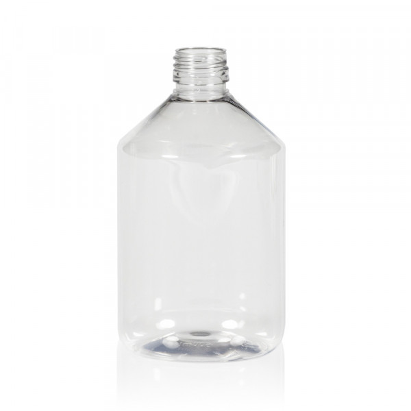 500 ml bottle Pharma PET transparent 28.410