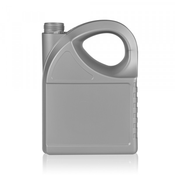 5000 ml bottle Oil HDPE silver
