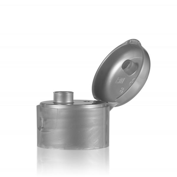 Fliptopcap PP silver 28.410