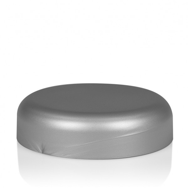 Screw lid Frosted soft 100 ml PP silver
