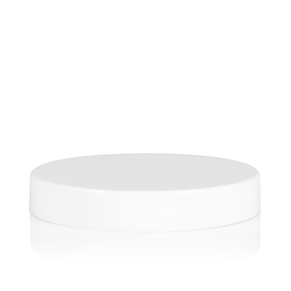 Screw lid transparent cylinder 70 mm white
