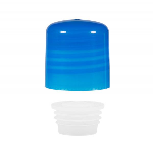 Screwcap + insert PP blue 24.410