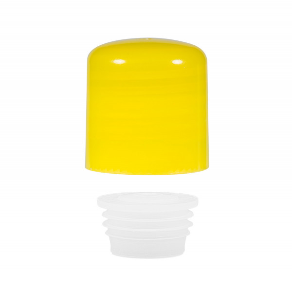 Screwcap + insert PP yellow 24.410