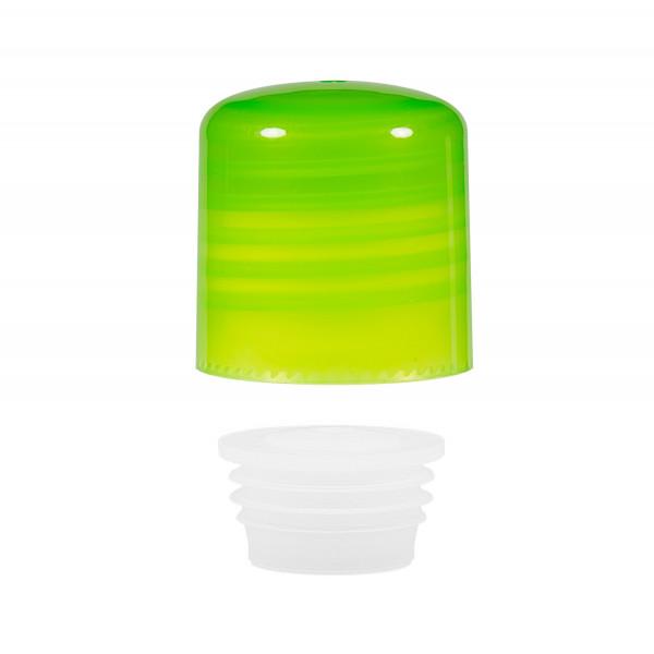 Screwcap + insert PP green 24.410