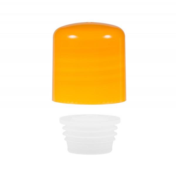 Screwcap + insert PP orange 24.410