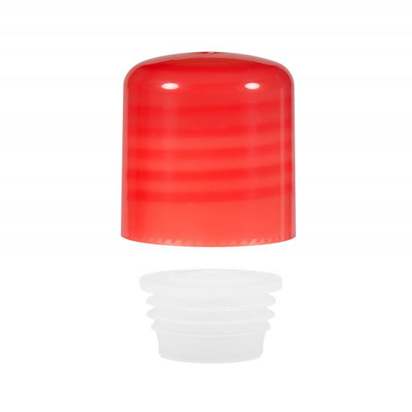 Screwcap + insert PP red 24.410